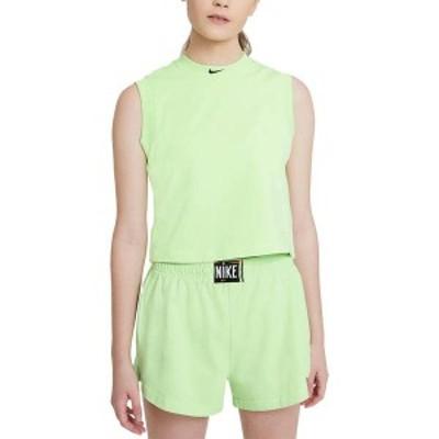 ナイキ レディース シャツ トップス Nike Women's Sportswear Washed Cropped Tank Top Ghost Green