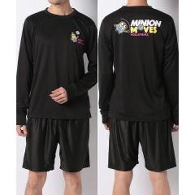s.a.gear(セール)s.a.gear(エスエーギア)バレーボール 長袖Tシャツ LSミニオンズTシャツ SA-F19-003-109 ブラック