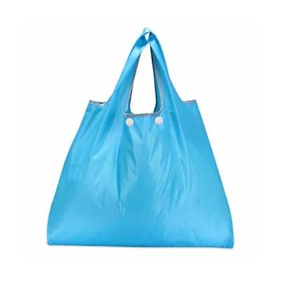 折りたたみ買い物袋 防水素材 (スカイブルー)