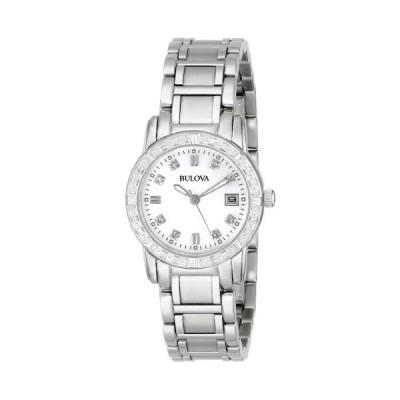 腕時計 ブローバ レディース 96R105 Bulova Women's 96R105 Diamond-Accented Stainless Steel Watch