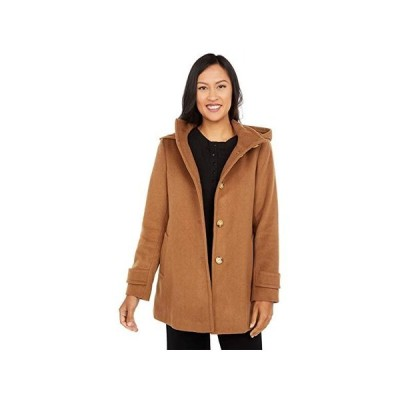 LAUREN Ralph Lauren Doeskin A-Line wu002F Removable Hood レディース コート アウター New Vicuna
