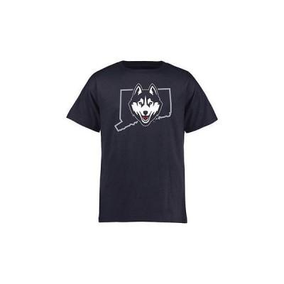 海外バイヤーおすすめ アメリカ USA カレッジ 全米 リーグ NCAA UConn Huskies ユース ネイビー Tradition State Tシャツ