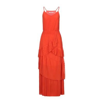 GESTUZ ロングワンピース&ドレス オレンジ M ポリエステル 100% ロングワンピース&ドレス