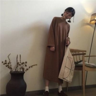 秋新作 ワンピース ロング ワンピース 大きいサイズ ニット ロング ワンピース 長袖 ワンピース ドレス ロング ドレス ロング ワンピース