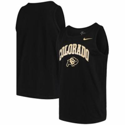 """メンズ タンクトップ """"Colorado Buffaloes"""" Nike Arch & Logo Performance Tank Top - Black"""
