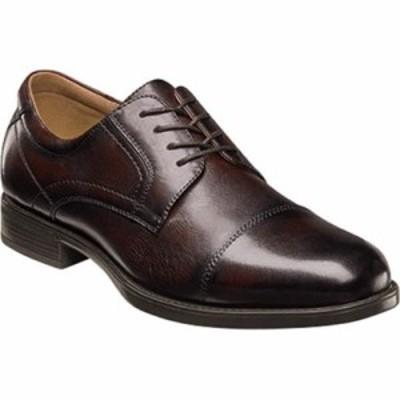 フローシャイム 革靴・ビジネスシューズ Midtown Cap Toe Oxford Brown Smooth Leather
