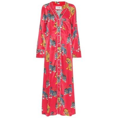キリン Kirin レディース ワンピース シャツワンピース ワンピース・ドレス Printed satin shirt dress Red Multi