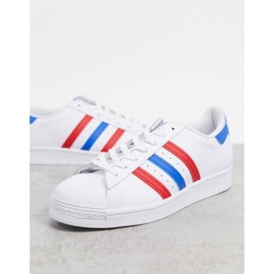 アディダス メンズ スニーカー シューズ adidas Originals Americana edition Superstar sneakers in white