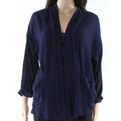 ファッション トップス Socialite NEW Blue Womens Size Medium M Open Front Cardigan Sweater