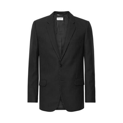 SAINT LAURENT テーラードジャケット ブラック 46 ウール 100% テーラードジャケット