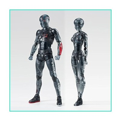 iGREATWALL Black Clear Mannequin Model for Drawing Action Figures Movable Joints SH Figuarts Body Kun Set with Various Gestures,Model Stands