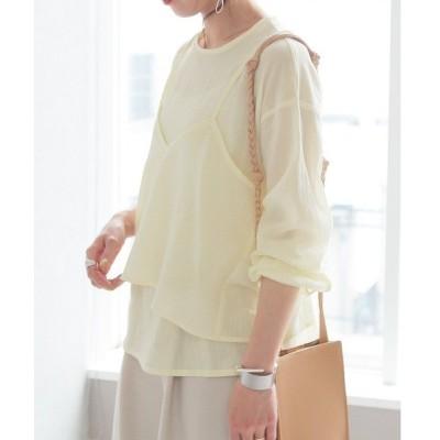 tシャツ Tシャツ 【zozotown限定】ブラウス×キャミセット