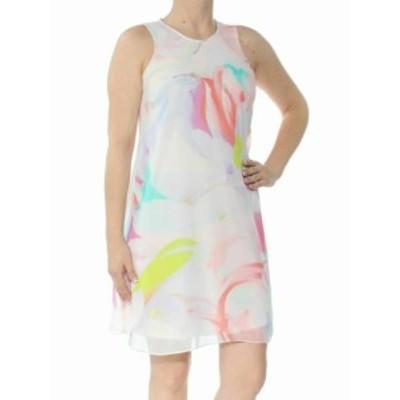 Calvin Klein カルバンクライン ファッション ドレス Calvin Klein NEW Pink Floral Print Womens Size 2P Petite Shift Dress
