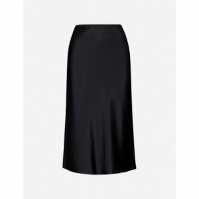 ジョゼフ JOSEPH レディース ひざ丈スカート スカート Isaak silk-satin midi skirt Black