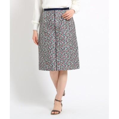 SunaUna(スーナウーナ) 【洗える】ジャカードプチフラワースカート