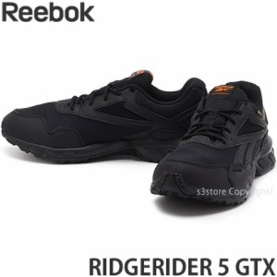 リーボック RIDGERIDER 5 GTX カラー:ブラック/ブラック/ハイビズオレンジ