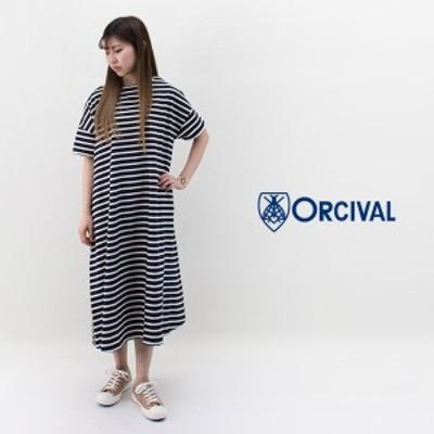 ORCIVAL オーシバル レディース コットンモヨン 半袖ワンピース[B236]【2020SS】