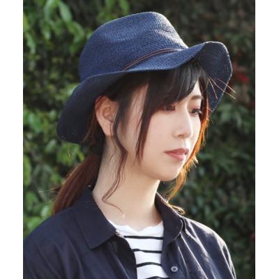 polcadot / コンチョ付 ペーパー中折れ(つば広) WOMEN 帽子 > ハット