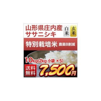 お米 山形県庄内産 ササニシキ 10kg(2kg×5袋) 令和2年(2020年)【白米・玄米選択】【特別栽培米】【送料無料・米袋は真空包装】