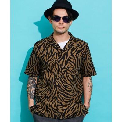 【ROTAR(ローター)】Zebra Textiles Open Collar Shirt シャツ(rt2134012)