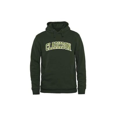 ファナティックスブランディッド カレッジ スポーツ NCAA アメリカ USA 大学 Clarkson ゴールデン Knights Arch Name プルオーバーパーカー - グリーン