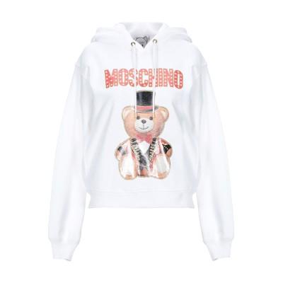 モスキーノ MOSCHINO スウェットシャツ ホワイト 38 コットン 100% スウェットシャツ