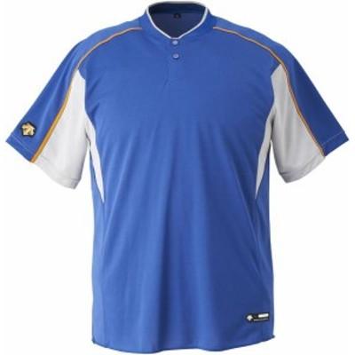 DESCENTE 野球 ソフトボール ジュニア 野球 2ボタンベースボールシャツ 19FW RYSL Tシャツ(jdb104b-rysl)