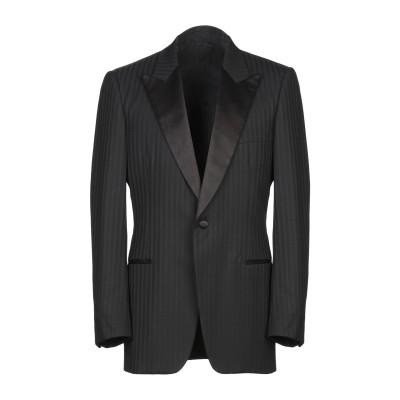 DANDI テーラードジャケット ブラック 48 スーパー100 ウール テーラードジャケット