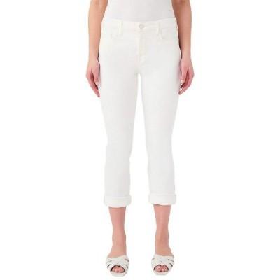 ジェン7 レディース デニムパンツ ボトムス Straight Crop & Roll Jeans
