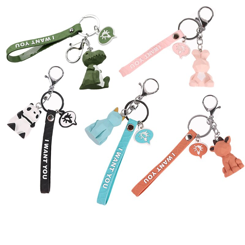 北歐幾何切面鑰匙圈 動物鑰匙圈 鑰匙扣 北歐風 包包掛飾 鑰匙圈【Z201034】