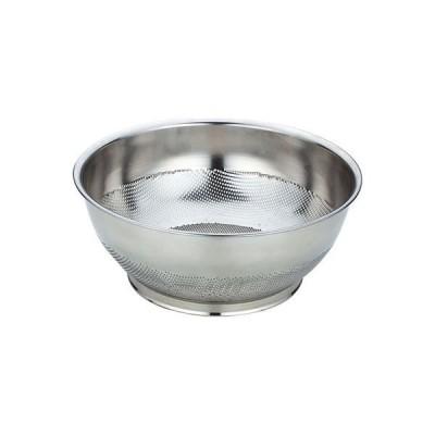 三宝産業UK18-8パンチング 巾広浅型ザル 33cm 609202 3個 三宝産業(直送品)