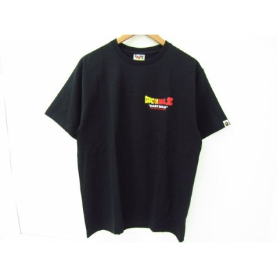 A BATHING APE ア・ベイシング・エイプ × DRAGON BALL Z ドラゴンボール 半袖Tシャツ ブラック 黒 SIZE:L♪FG4680