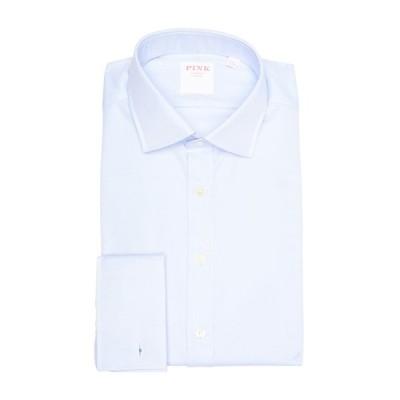 トーマスピンク メンズ シャツ トップス Royal Oxford Solid Classic Fit Dress Shirt PALE BLUE/WHITE