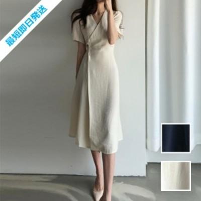 韓国 ファッション レディース ワンピース 夏 春 カジュアル 【即納】naloF365  リゾートワンピース ハワイ ナチュラルテイスト アシンメ