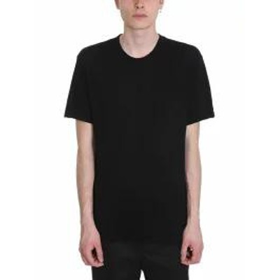 James Perse メンズトップス James Perse Black Melange Cotton T-shirt black