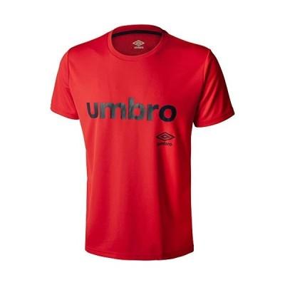 ◎アンブロ(UMBRO) WRワードロゴドライ Tシャツ UMUPJA56-MRED メンズ・ユニセックス MRED:Mレッド L