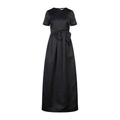 パロッシュ P.A.R.O.S.H. ロングワンピース&ドレス ブラック S ポリエステル 100% ロングワンピース&ドレス