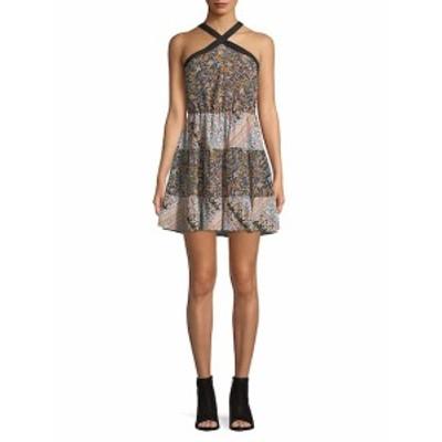 BCBG ジェネレーション レディース ワンピース Floral Shift Halter Dress