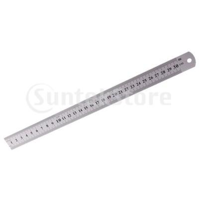 スチール ルーラー  直定規 測定  直線定規 デュアルサイド 全3サイズ インチとメートル法