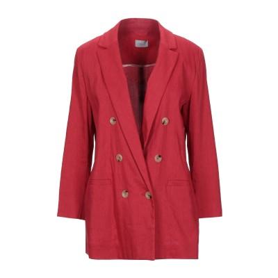 MARELLA テーラードジャケット レッド 44 リネン 61% / レーヨン 37% / ポリウレタン 2% テーラードジャケット