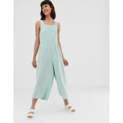 エイソス レディース ワンピース トップス ASOS DESIGN minimal jumpsuit with ruched waist Mint