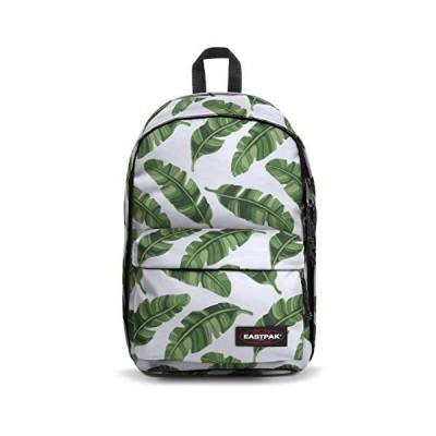 Eastpak Back To Work Backpack, 43 cm, 27 L, White (Brize Leaves Natural) 並行輸入品