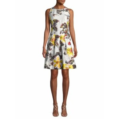 オスカーデラレンタ レディース ワンピース Floral Fit-And-Flare Dress