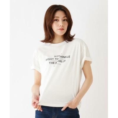 SHOO・LA・RUE/シューラルー プリント半袖Tシャツ オフホワイト(102) 03(L)