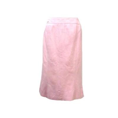 【中古】レオナール LEONARD スカート無地 ひざ丈 マーメイド ピンク 70-95 LLサイズ相当 コットン RRR X レディース 【ベクトル 古着】