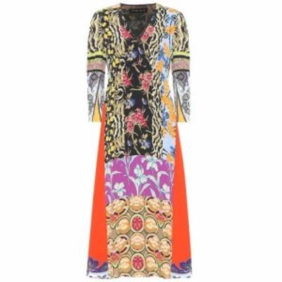 エトロ Etro レディース ワンピース ミドル丈 ワンピース・ドレス Floral crepe midi dress