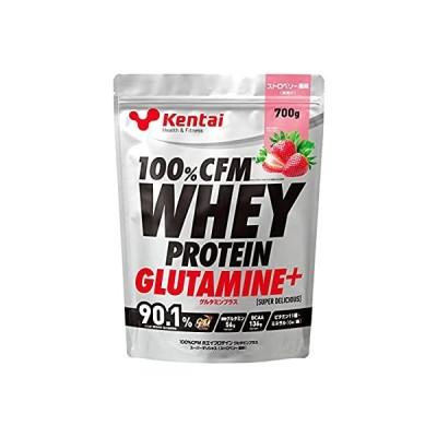 Kentai 100%CFMホエイプロテイン グルタミン+ ストロベリー風味 700g