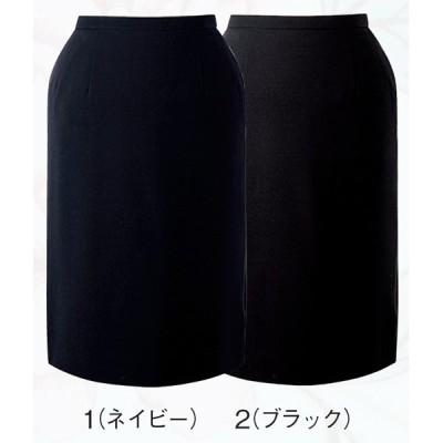 スカート ボトムス ビジネスウェア 事務服 セミタイトスカート FS4566L (21号・23号) フォーク (FOLK) 取寄