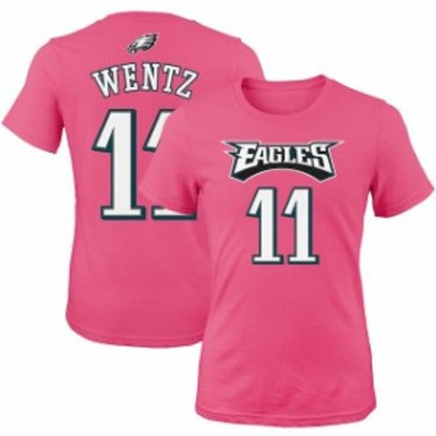 Outerstuff アウタースタッフ スポーツ用品  Carson Wentz Philadelphia Eagles Girls Youth Pink Mainliner Player Name