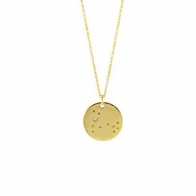 Columbus 14K Gold Plated Astrology Horoscope Constellation Zodiac Coin Necklace (Pisces)